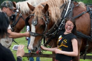 international student from Mongolia with horses