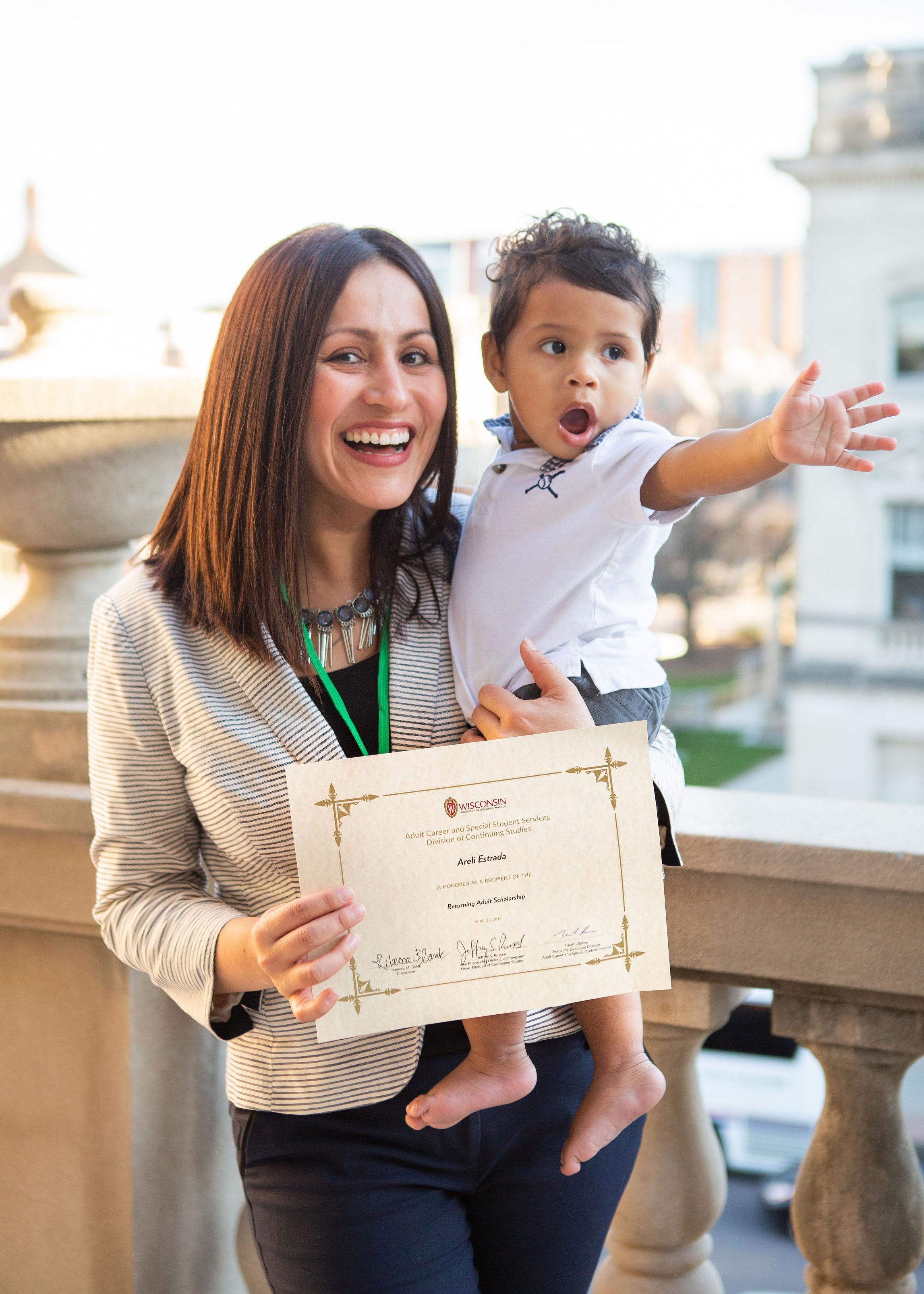 Areli Estrada and child