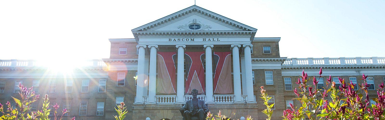 Bascom Hall with flowers