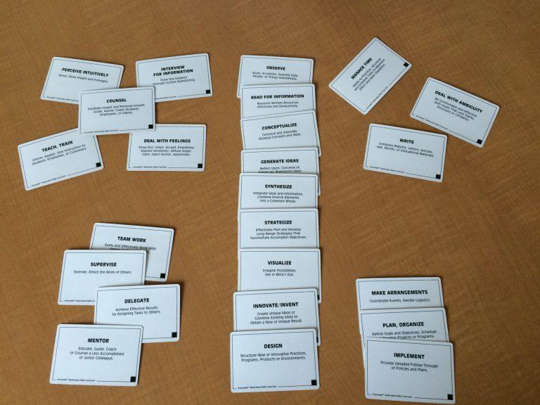 skills card sort