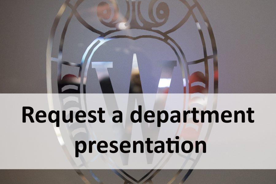 Request a department presentation