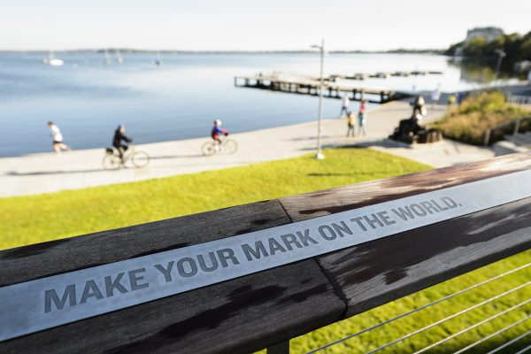 alumni park make your mark plaque